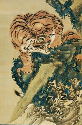 Gan Ku Tiger scroll painting